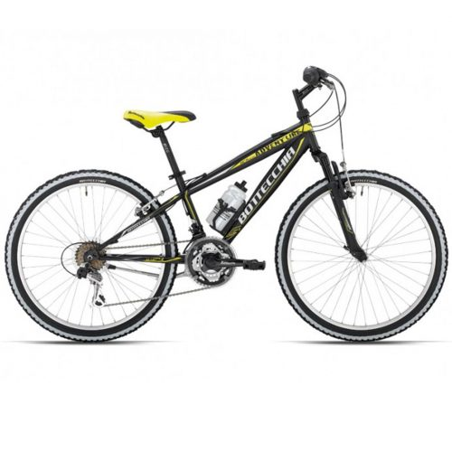 Bici Bottecchia Mtb Adventure 24 Boy 18s Nero Giallo Fluo Opaco