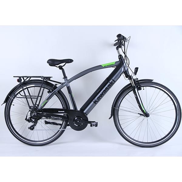 Bicicletta Pieghevole Kawasaki Folding Bike Alluminio.Kawasaki Bici Trekking A Pedalata Assistita Mancicli Serino